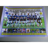Poster Cruzeiro Tricampeão Brasileiro 2013 - 30x42cm
