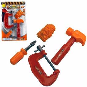 Ferramentas Brinquedos Mini Oficina Para Seu Garoto Kit 4pç.