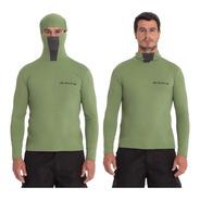 Camisa Proteção Uv Ninja Pesca C/ Capuz,repelente À Insetos.