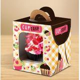 Caixa / Embalagem Para Cupcake Individual - Pacote C/10