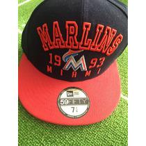 Gorra De Los Marlines De Miami. New Era Original.