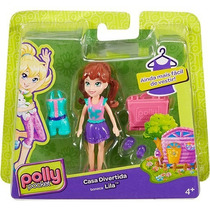 Boneca Polly Pocket Casa Divertida Lila - Mattel
