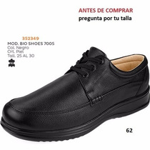 Zapatos Bio Shoes Para Caballero Negro Confort Diabetes I