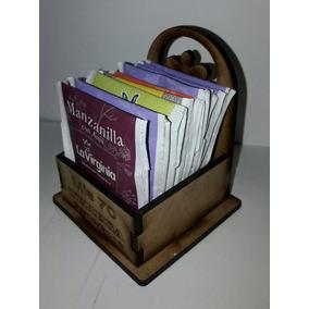 Cajita Porta Saquitos De Te En Mdf Fibrofacil Personalizada