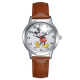 Reloj De Cuarzo Disney Mickey Mouse Color Marrón