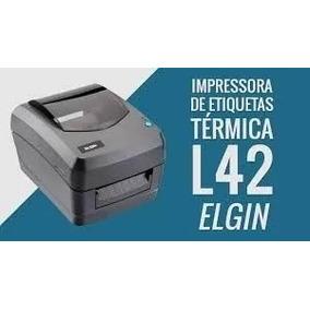 Impressora De Código De Barras Usb Serial L42 Elgin