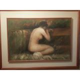 Cuadro Al Oleo Mujer Desnuda Del Autor D. Foster