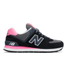 Championes New Balance 574 Cpl Black/pink Para Mujer