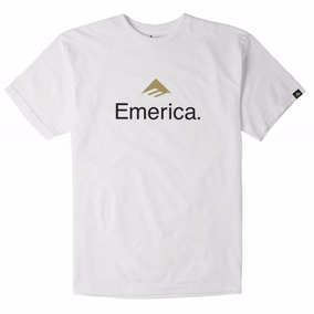 Remera Emerica Logo Tee / Blanca Estampa