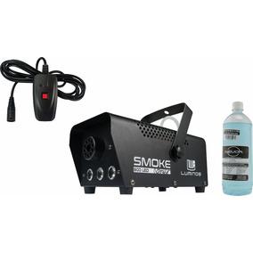 Máquina De Fumaça 600w 3 Leds Controle C/ Fio Profissional