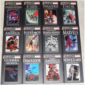 Salvat Marvel Capa Preta Vermelha Graphic Novels Clássicas
