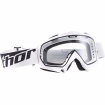 Óculos Thor Enemy Branco Lente Transparente Motocross Trilha