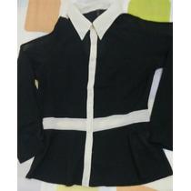 Blusa De Seda Negra... Moderna