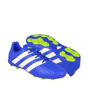 Zapatos De Fútbol adidas Para Hombre Simipiel Azul Con Blanc