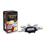 Domino Doble 9 Cubano Ronda Caja Metálica 55 Fichas Colores