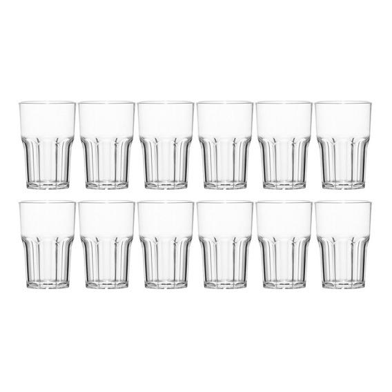 Set Vaso De Vidrio X12 Nadir Bebida 410ml Juego Combo