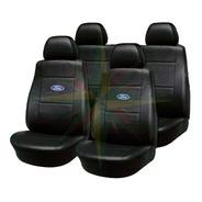 Funda Cubre Asiento Cuero Ford Fiesta Kinetic 4 Cabezales ( Juego Completo )
