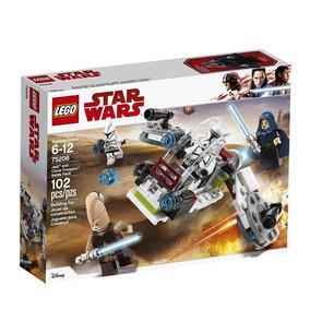 75206 Lego Star Wars - Conjunto De Combate Jedi E Clone Troo