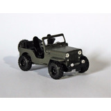 Jeep Willys Cj-3b Cara De Cavalo 1:43 Customizado 4x4 Jipe