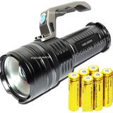 Lanterna Holofote Led 3240.000 Lumens 6 Bateria Recarregável