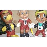 Juguetes Disney Vintage-3 Muñecos De Goma Articulables