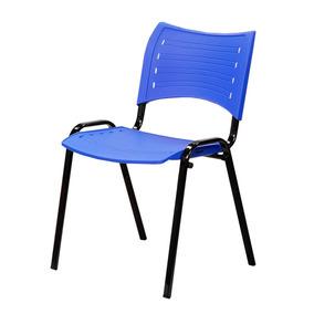 Cadeira Fixa Empilhável Assento E Encosto Em Pp (colorido)