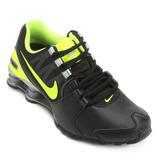 Tênis Nike Shox Avenue Ltr - Masculino - Preto/limão