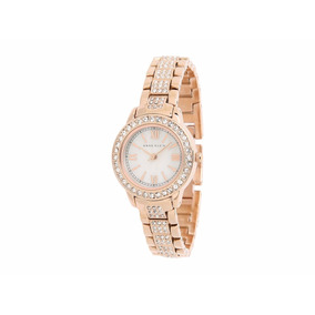 Reloj D/dama Anne Klein Oro Rosa Ak/1492mprg C/swarovskys