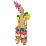 Disfraz De Rumbera Niña Talla 4 Carnavalito Fiesta