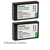 Kastar 2 Pack Ps-bls1 Bls-1 Battery For Olympus Evolt E-620