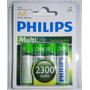 Pilas Recargables Aa Philips 2300mah Blister X 4u Ni-mh