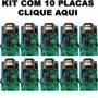 Kit 10 Placas De Motor Portao Universal C/ Anti-arrombamento