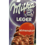 Chocolate Milka Por 100gs Leger Almendras Floresta