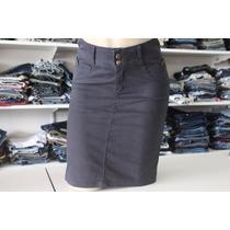 Saia Jeans Secretária Midi Moda Evangelica