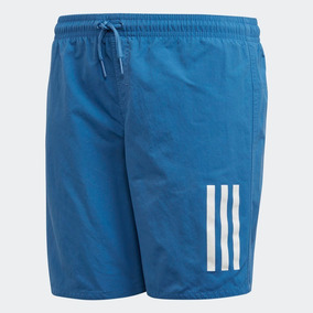 Short De Baño adidas 3 Tiras Color Azul Originals Malla