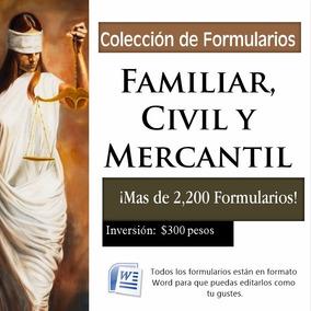 Colección De Formularios Familiar, Civil Y Mercantil