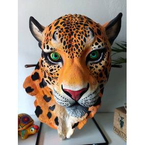 Animal Cabeza Resina Jaguar Felino