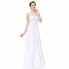 Vestido Noiva Casamento Civil Rendas E Cetim Longo