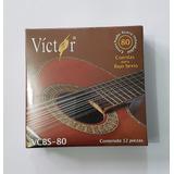 Juego De Cuerdas Victor Para Bajo Sexto De Acero 12 Piezas.