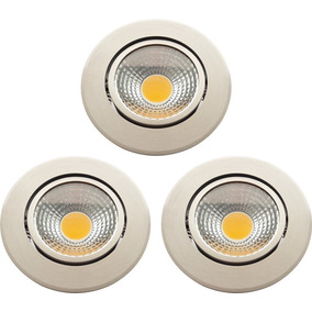 3-pack Lámpara Techo Empotrable 5w Blanco Led