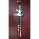 Llavero Fusil M4-a1 - Anime . Unico Rifle Fullmetal