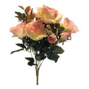 Buquê De Rosas X10 49cm - Rosa Outono