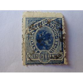 Selo Brasil 200 Reis Madrugada Azul Raridade