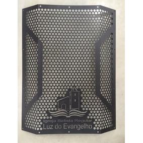 Fabricação Telas Personalizadas Caixa Som Logomarca Igreja