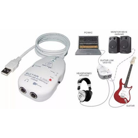 Placa Som Externa Behringer Ucg-102 Usb Interface Guitarra