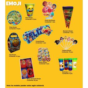 Fiesta Emoji Caritas Platos Vasos Globos Cajitas Bolo