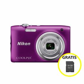 Cámara Nikon Coolpix A100 Púrpura Ultra Compacta