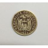 Moneda Antigua De Bronce 20 Ctvs Peseta Año 1944 De Ecuador