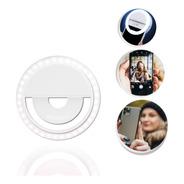 Flash Para Celular Luz Mini Ring Light Sandy Clipe Anel Led