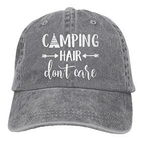 Hhnlb Unisex Camping Hair Dont Care1 Vintage Jeans Gorra De d5cd303c493